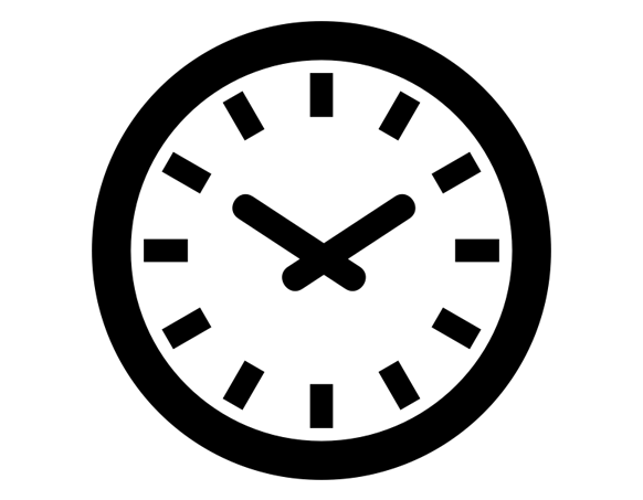 Clock Icon by fahim annabil from the Noun Project